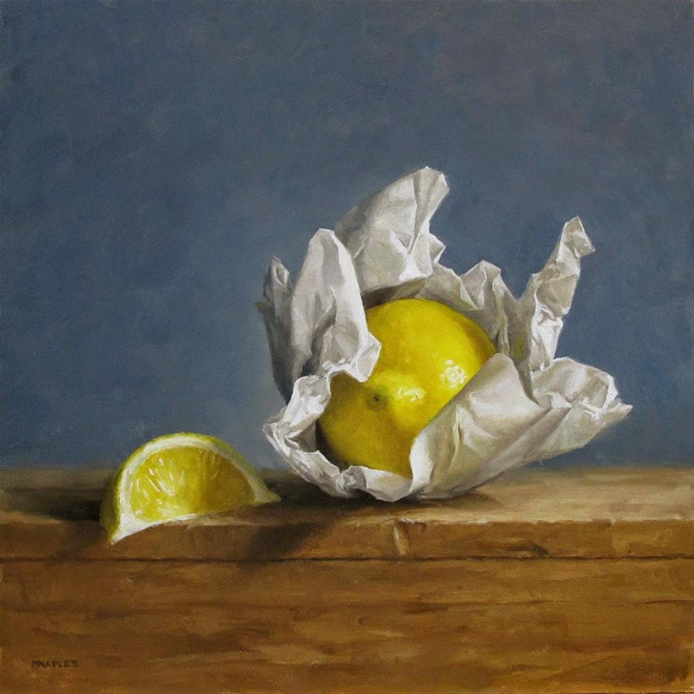 """Wrapped Lemon"" original fine art by Michael Naples"