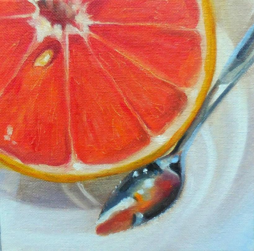 """""""Grapefruit Spoon"""" original fine art by Beth Moreau"""