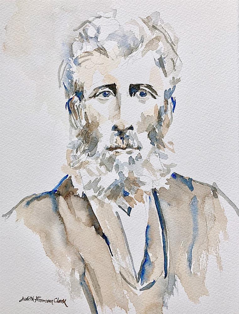 """Grandpa Benson"" original fine art by Judith Freeman Clark"