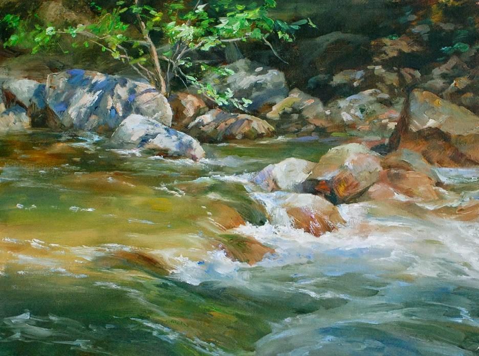"""River Series #5"" original fine art by Kelvin Lei"