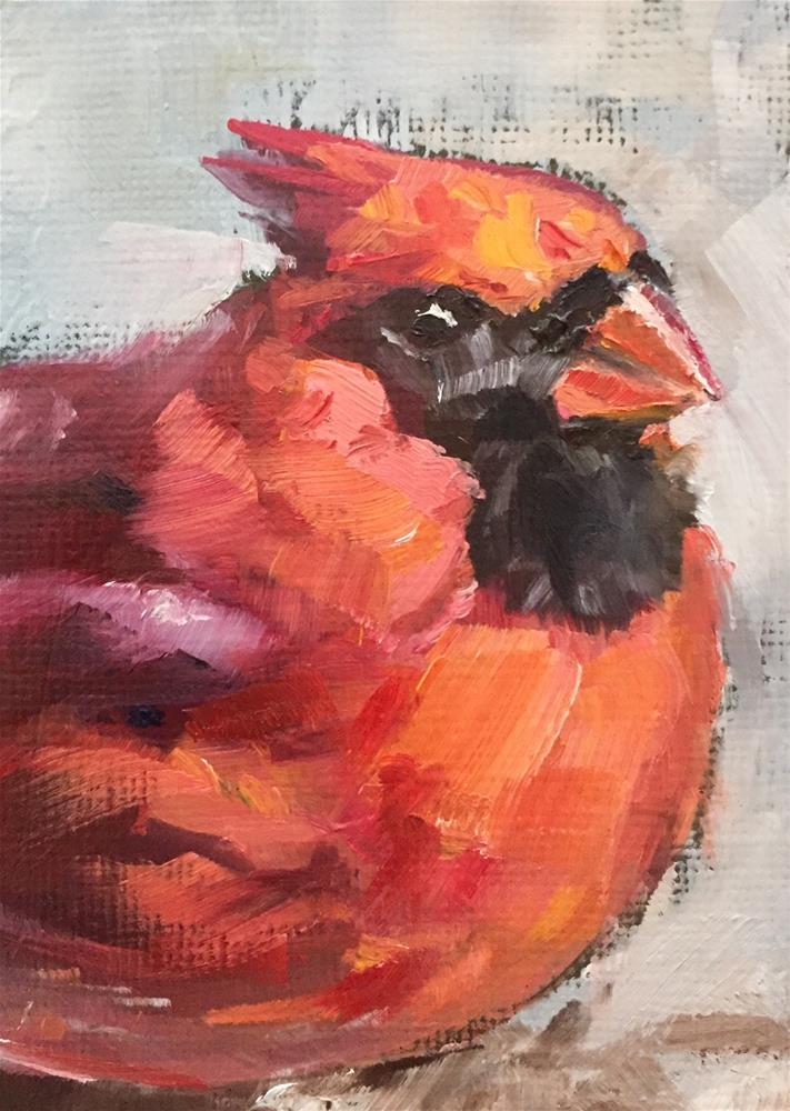 """""""Redbird"""" original fine art by Gary Bruton"""
