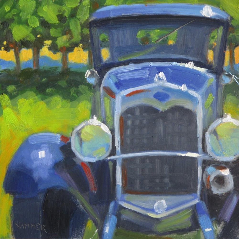 """1930 Ford  6 x 6  oil"" original fine art by Claudia Hammer"