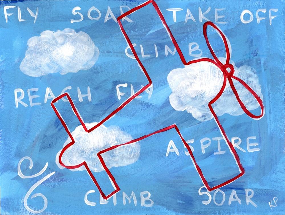 """""""Written in the Sky"""" original fine art by Kali Parsons"""