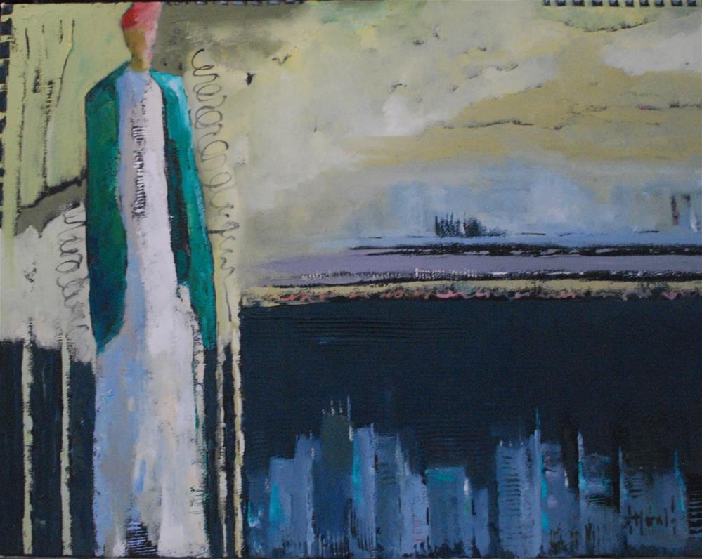 """City Limit"" original fine art by Deborah Harold"