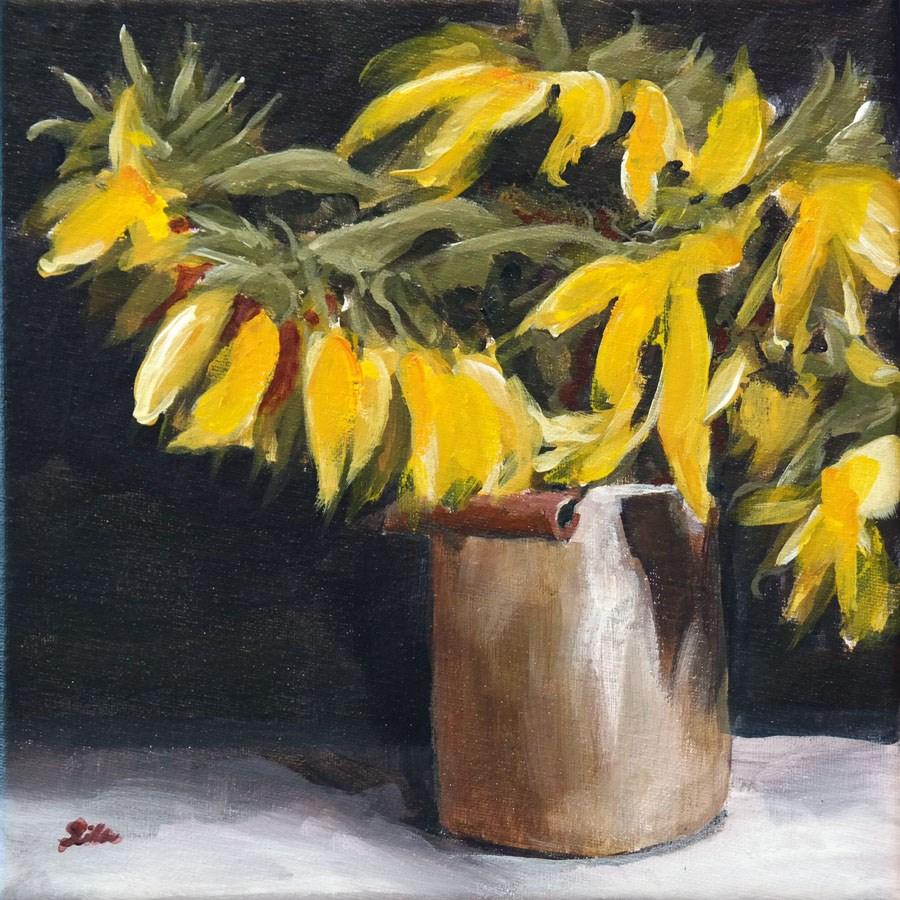 """""""1479 Sunflower Classic"""" original fine art by Dietmar Stiller"""