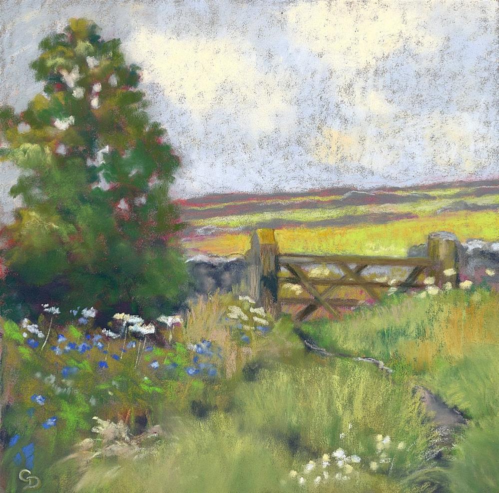 """A Country Trail"" original fine art by Christine Derrick"