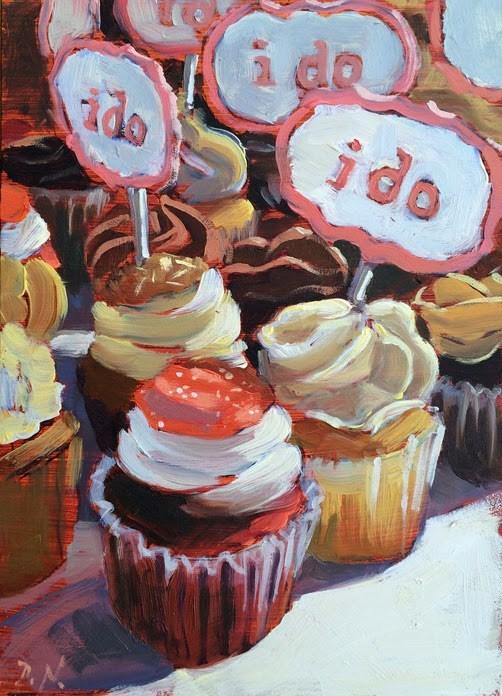 """""""I Do"""" original fine art by Deborah Newman"""