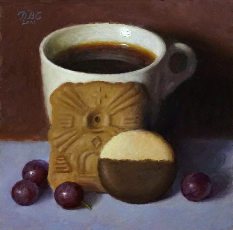 """""""Winter Afternoon Snack"""" original fine art by Debra Becks Cooper"""