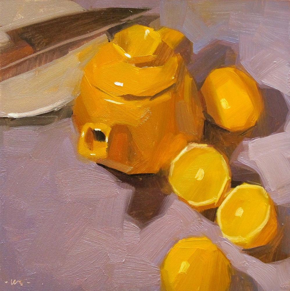 """Lemon Parade"" original fine art by Carol Marine"
