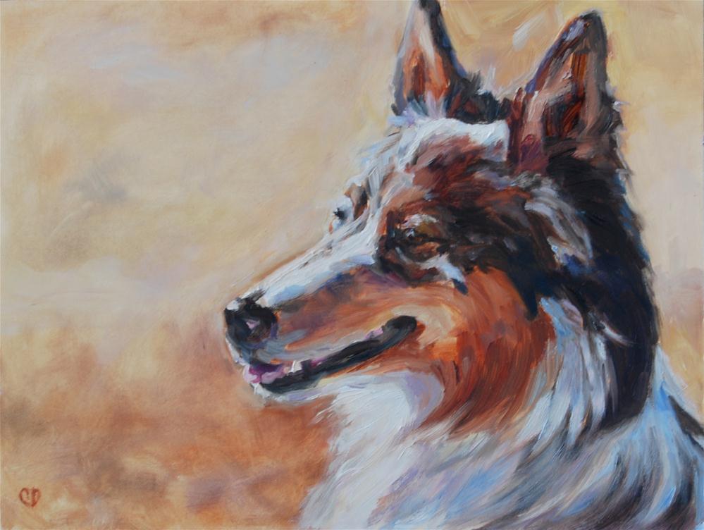 """Watching the Flock"" original fine art by Carol DeMumbrum"
