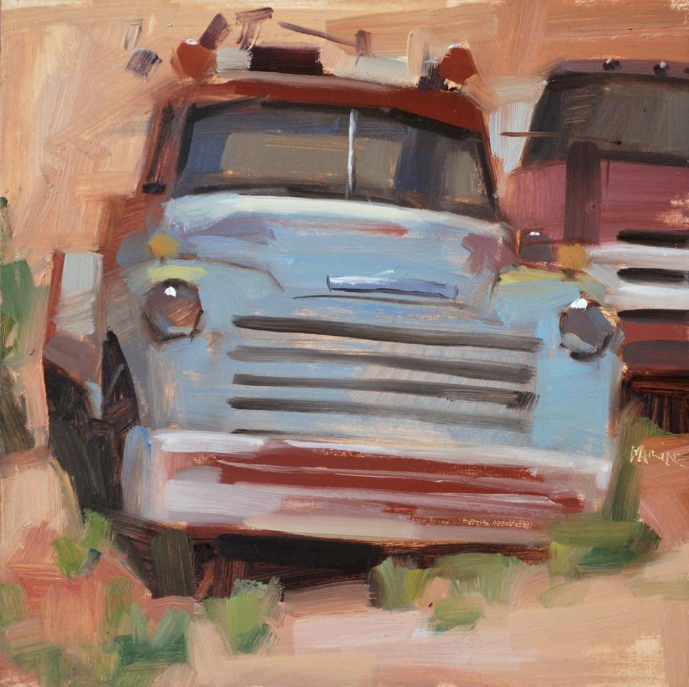 """Junkers"" original fine art by Carol Marine"