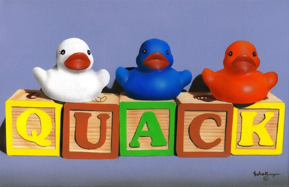 """Quack"" original fine art by Fred Schollmeyer"