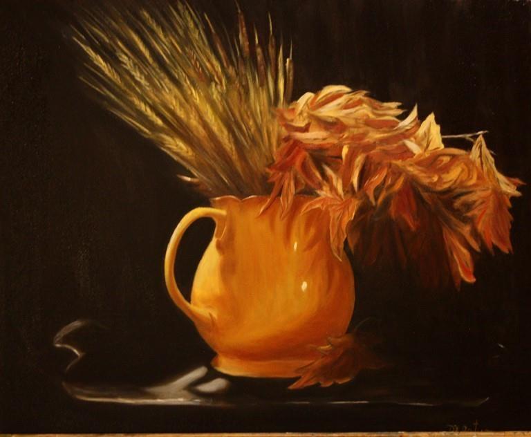 """""""Golden"""" original fine art by Mary Datum"""
