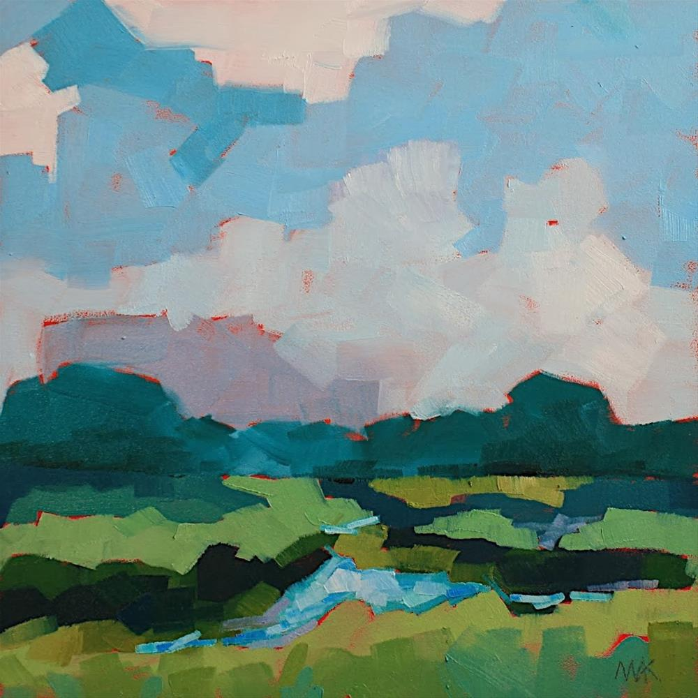 """""""Summer Marsh"""" original fine art by Mary Anne Cary"""