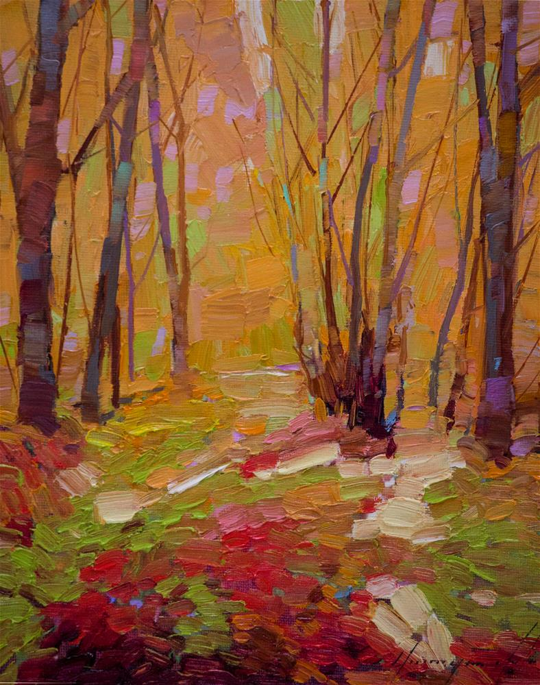 """Autumn Trees Original oil Painting"" original fine art by V Y"