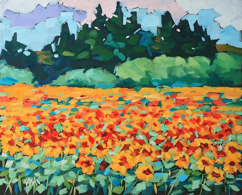 """""""In the Thick of It"""" original fine art by Mary Anne Cary"""