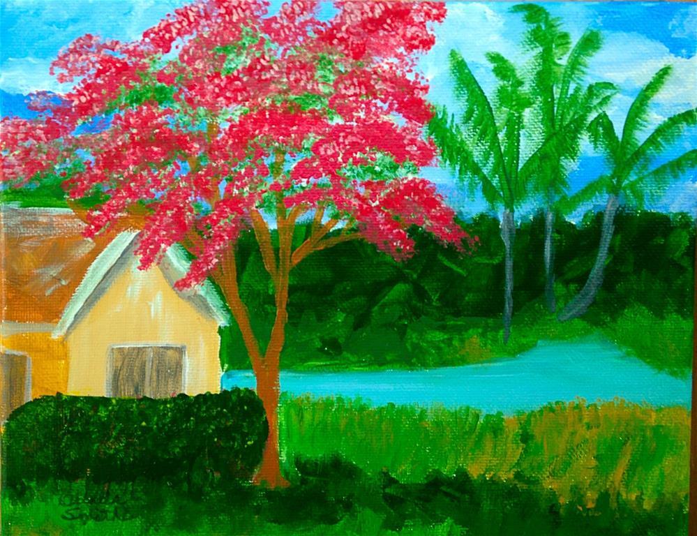 """Majestic Royal Poinciana"" original fine art by Brenda Smith"