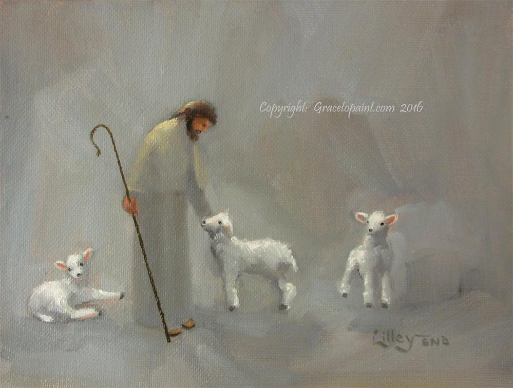 """My Sheep Hear My Voice"" original fine art by Maresa Lilley"
