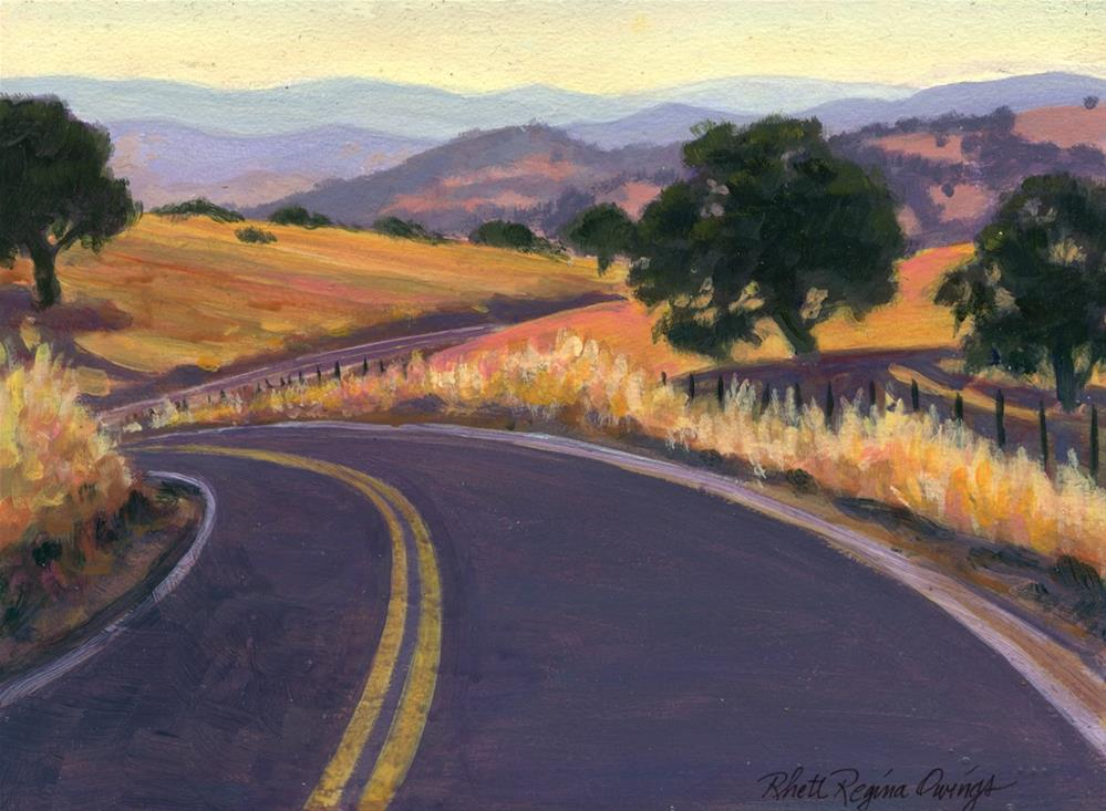 """Curvy Foothill Road"" original fine art by Rhett Regina Owings"