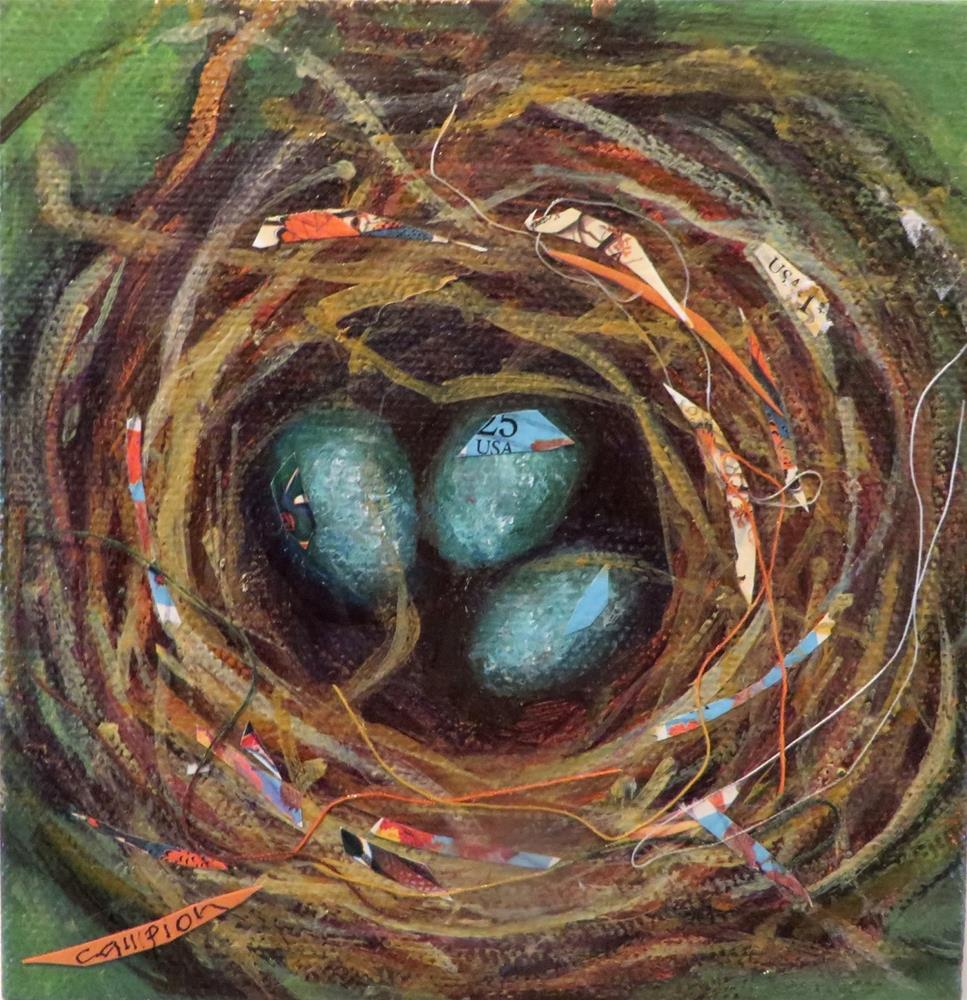 """820 Triplets"" original fine art by Diane Campion"