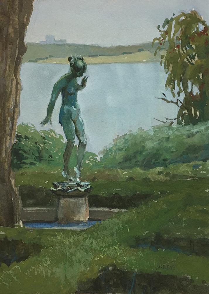 """Verdigris"" original fine art by Robyn Jorde"