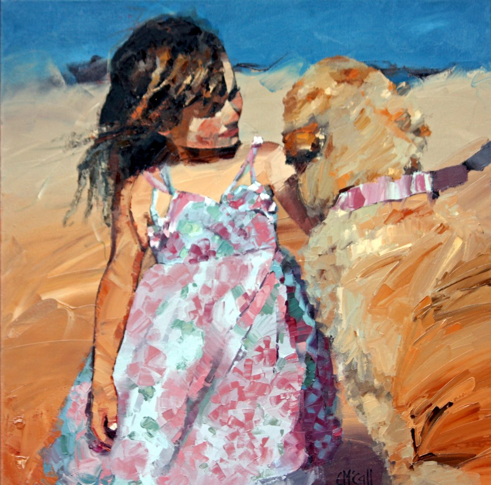 """Puppy Love V"" original fine art by Claire McCall"