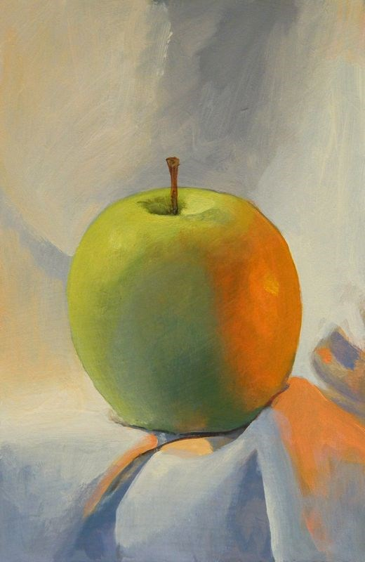 """""""apple"""" original fine art by Peter Orrock"""