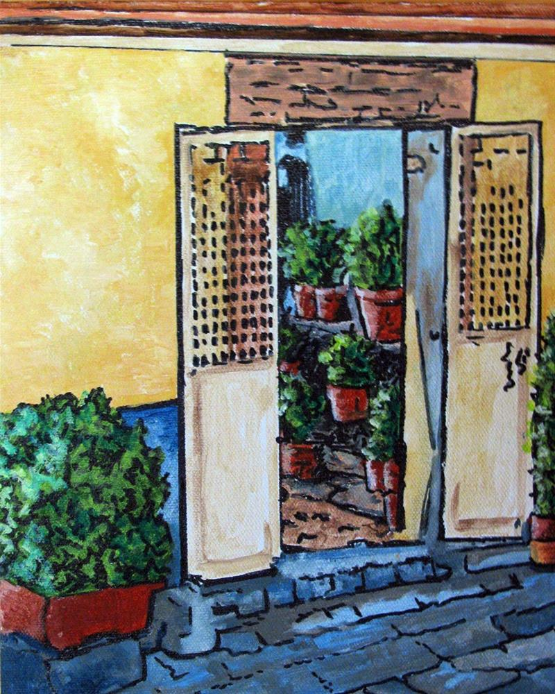 """The Doorway"" original fine art by Nan Johnson"