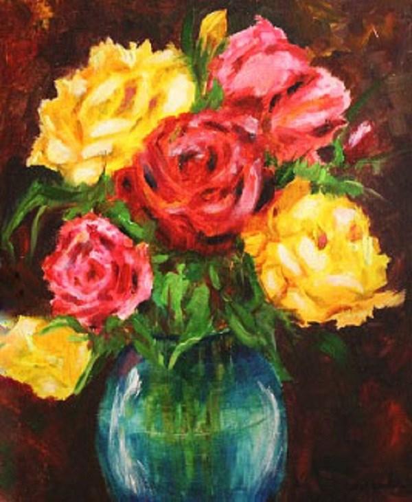 """Bouquet of Roses"" original fine art by Barbara Janecka"
