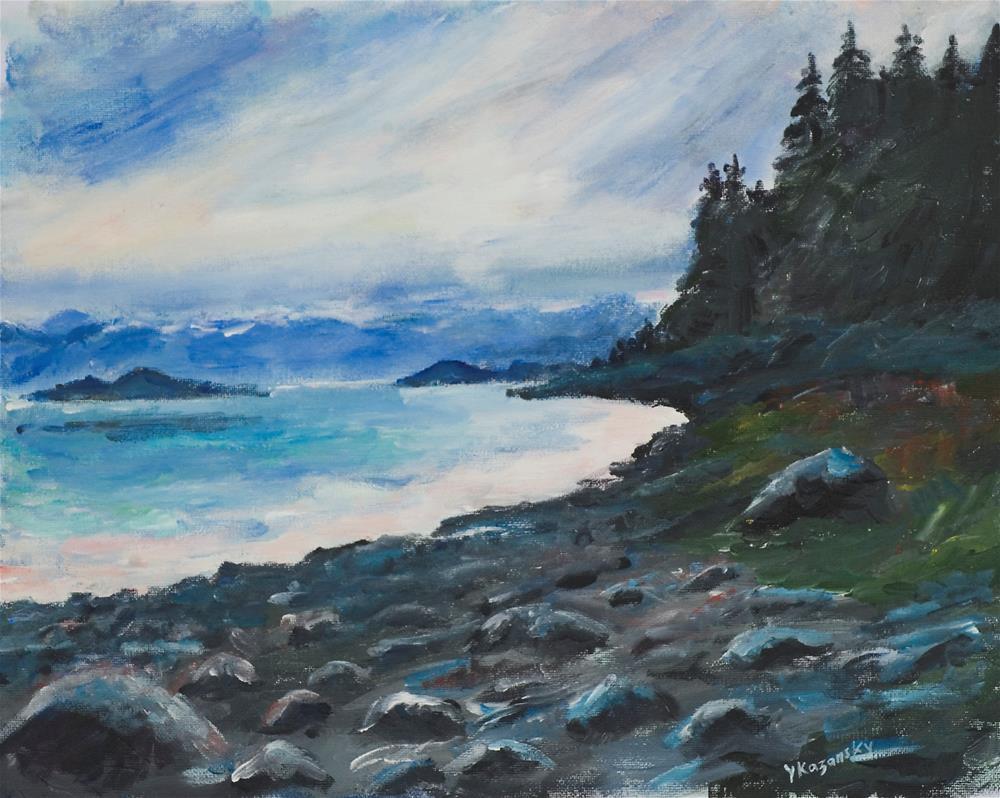 """Sunny Cove, Alaska."" original fine art by Yulia Kazansky"
