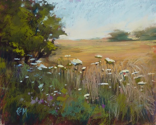 """Dancing in the Wheat Fields...Impressions of France part 6"" original fine art by Karen Margulis"