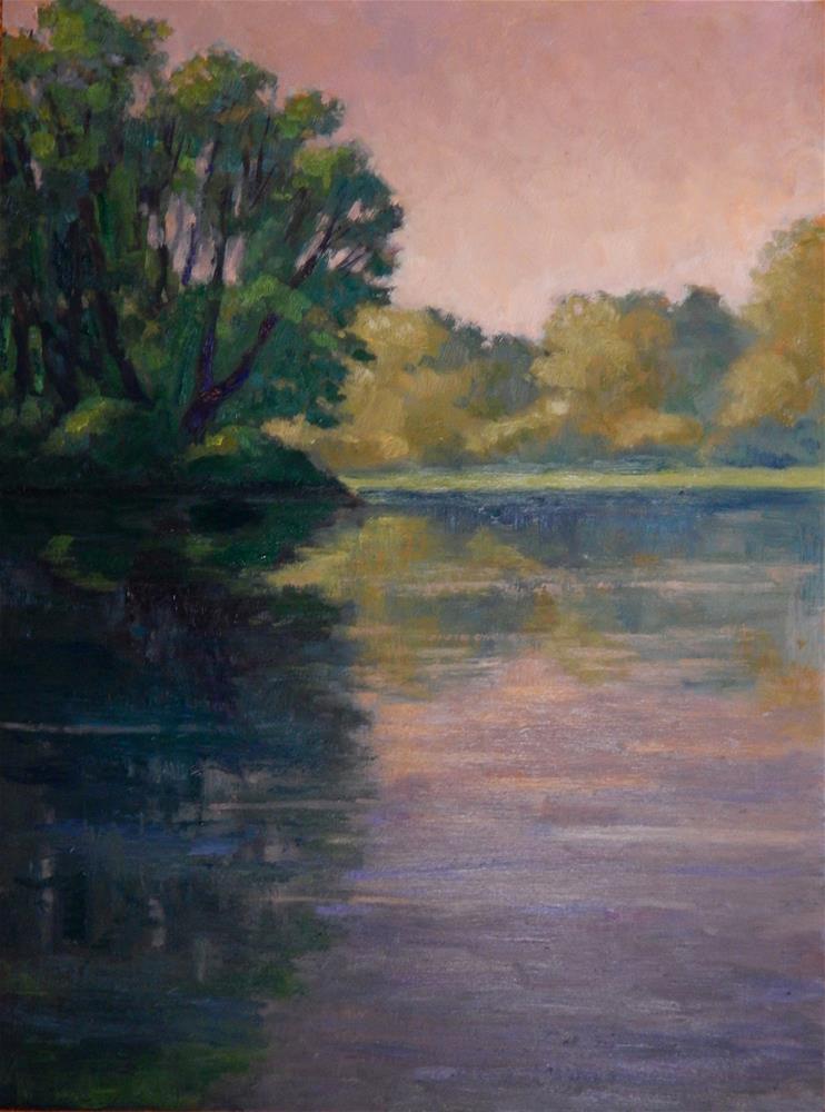 """""""On Golden Pond"""" original fine art by Lisa Kyle"""