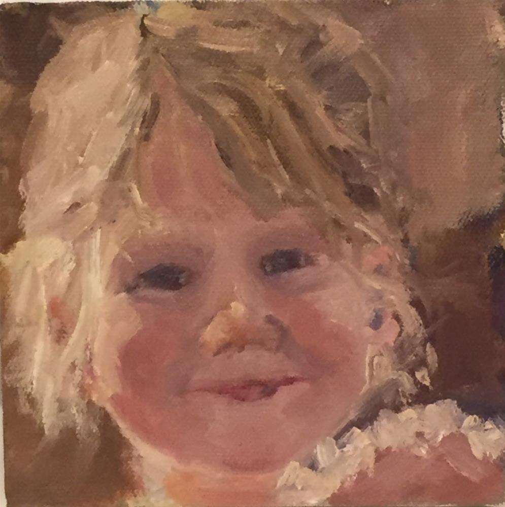 """Peyt"" original fine art by Debbie Dowdle"