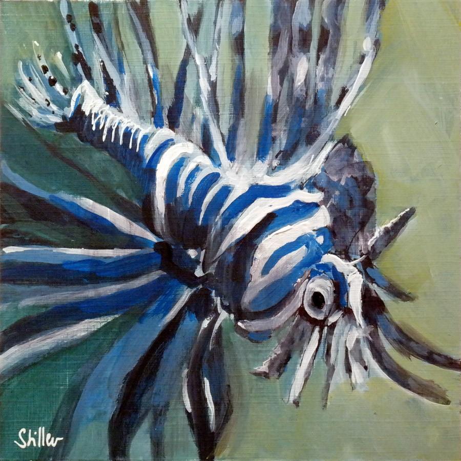 """2646 Fire Fishesse"" original fine art by Dietmar Stiller"