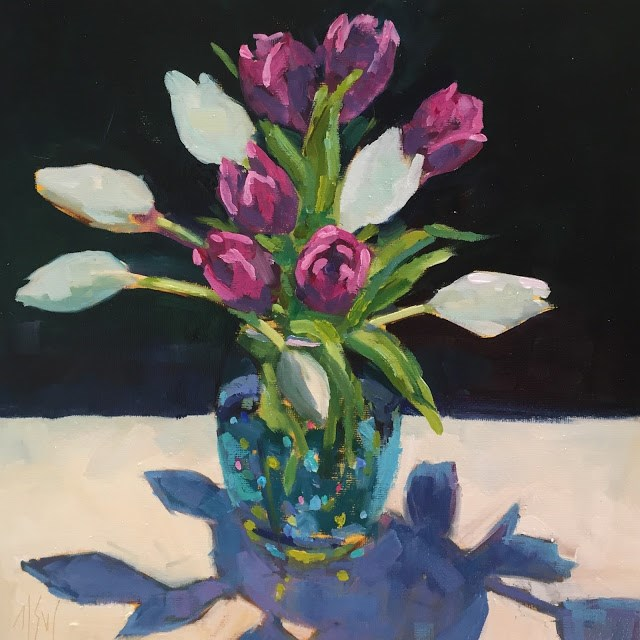 """Spring Tulips Who doesn't love tulips? This painting is SOLD"" original fine art by Mary Sheehan Winn"