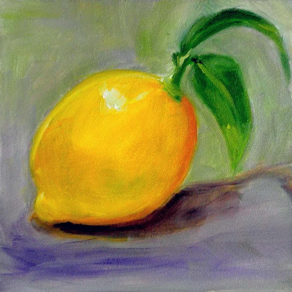 """Lemon"" original fine art by Cietha Wilson"