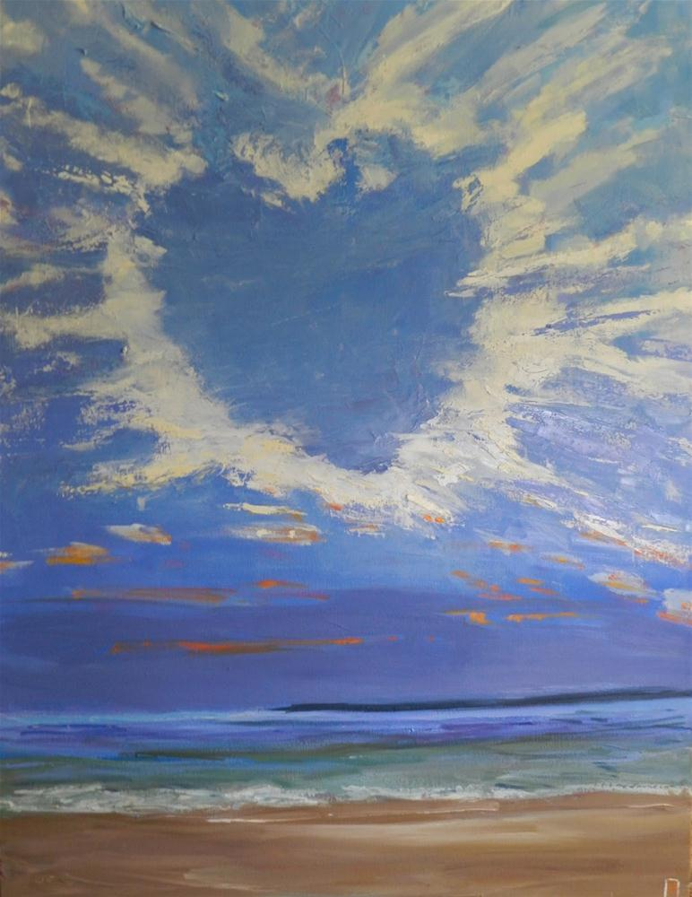 """Message In The Clouds, 30x40 Inch Original Oil Painting by Kelley MacDonald"" original fine art by Kelley MacDonald"