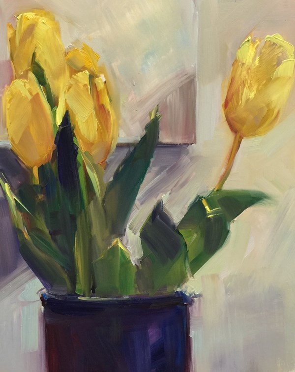 """Studio Tulips"" original fine art by Patti McNutt"