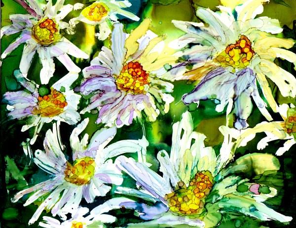 """""""Daisies"""" original fine art by Kristen Dukat"""