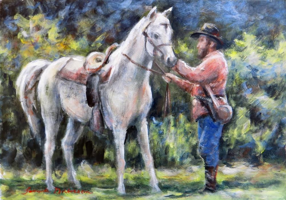 """""""Adjusting the Reigns"""" original fine art by Tammie Dickerson"""