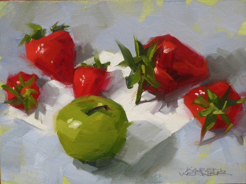 """Heavy Hitter -a still life painting in oil"" original fine art by Karen Werner"