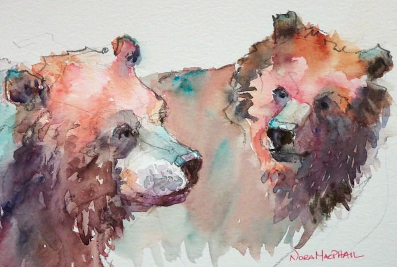"""stroll"" original fine art by Nora MacPhail"