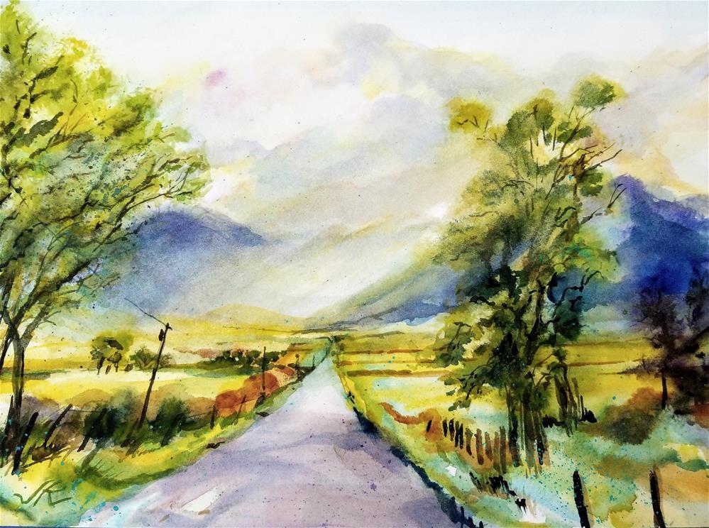 """""""CR 140, Westcliffe, CO"""" original fine art by Jean Krueger"""