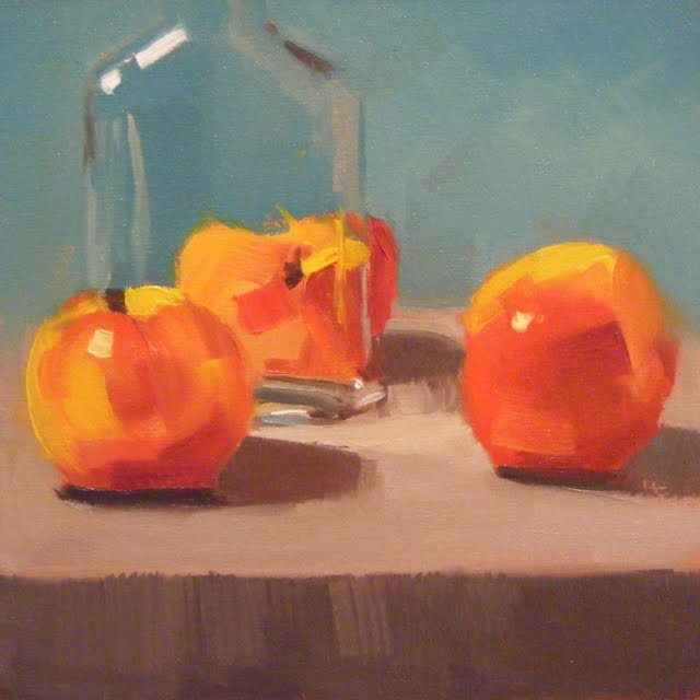 """PEACHY"" original fine art by Helen Cooper"