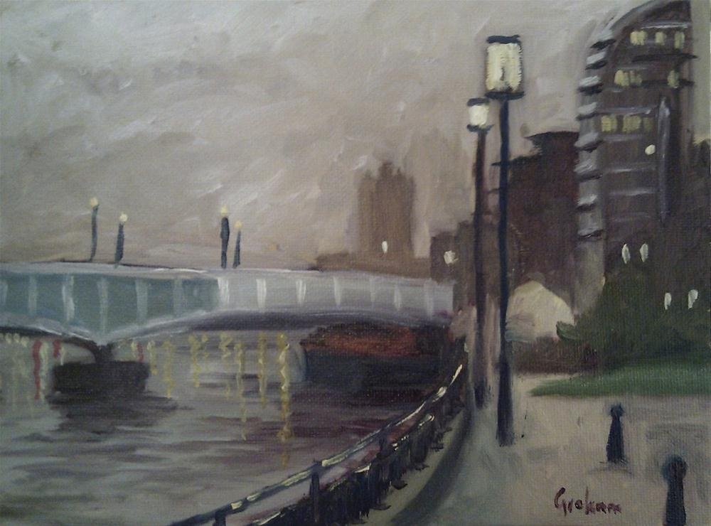 """Wandsworth Bridge"" original fine art by Graham Townsend"