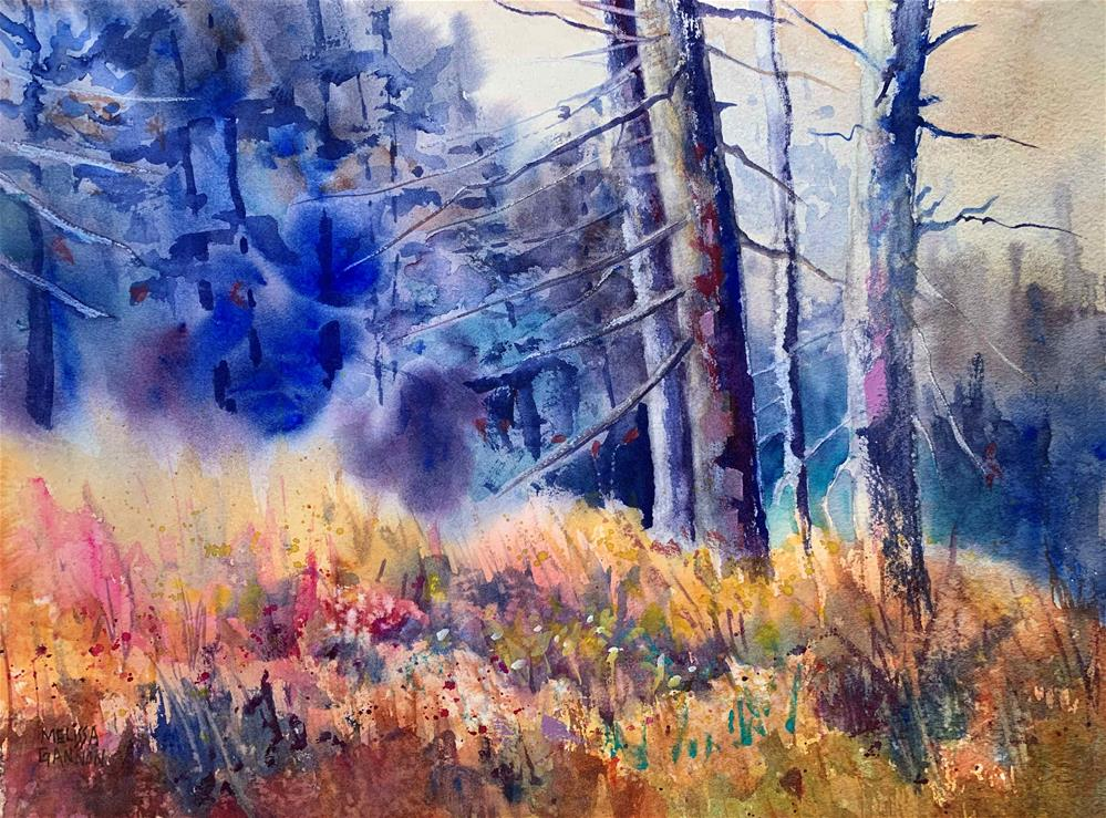 """Changes in the Woods"" original fine art by Melissa Gannon"