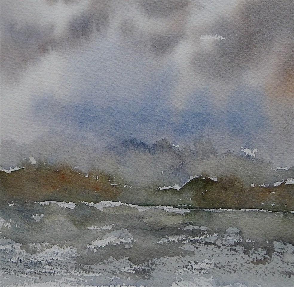 """""""Storm over Vilm / Baltic Sea"""" original fine art by Ulrike Schmidt"""