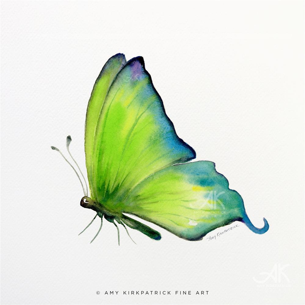 """""""#4 Skip Green Butterfly #0313"""" original fine art by Amy Kirkpatrick"""