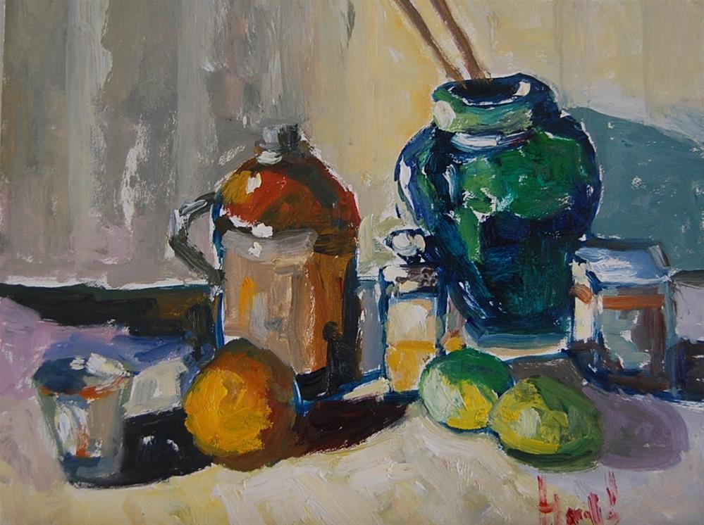 """""""Still Life Revisited"""" original fine art by Deborah Harold"""