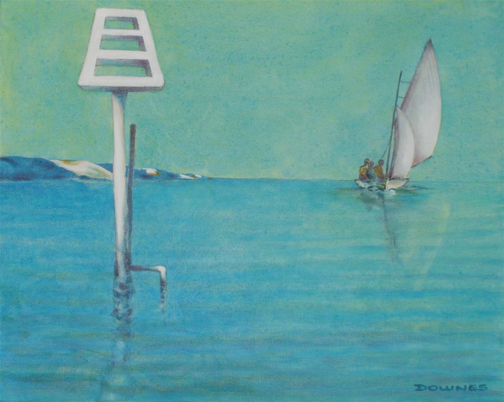 """282 SAILING WITH UNCLE JESSIE AND NOEL"" original fine art by Trevor Downes"